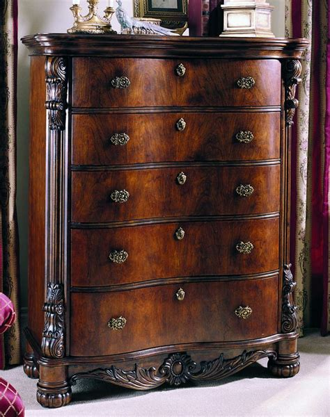 pulaski edwardian bedroom edwardian five drawer chest by pulaski furniture