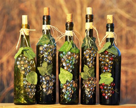 wine bottle wine bottle recycle craft project crafts and arts ideas