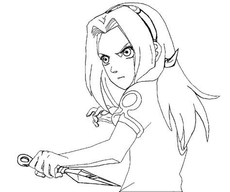sakura haruno 4 coloring crafty teenager
