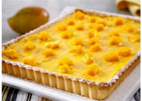 decorar un pastel de mango tarta de mango y crema pastelera