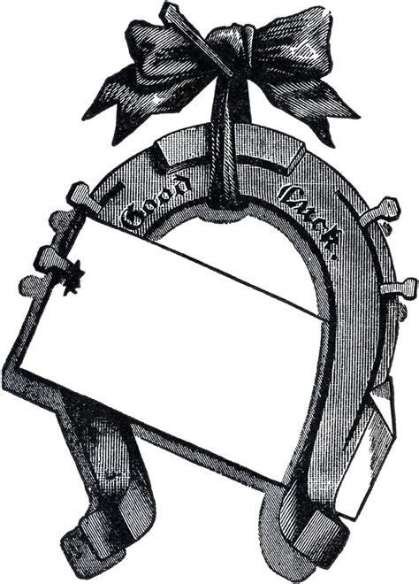 vintage horseshoe image sign  graphics fairy
