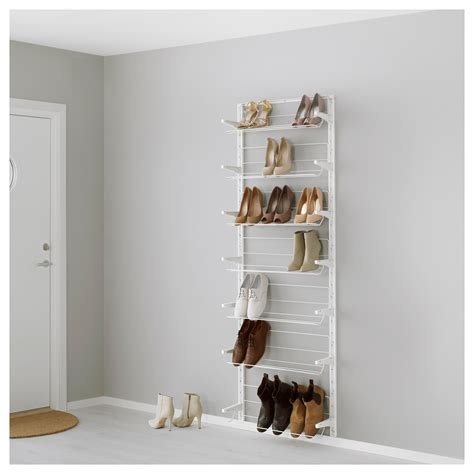 storage for shoes ikea algot wall upright shoe organiser white 66x21x199 cm ikea