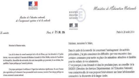 Présentation Lettre Non Officielle Fausse Lettre De Najat Vallaud Belkacem Le Minist 232 Re Va