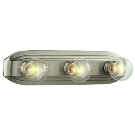 brushed nickel bathroom light bar hton bay 3 light brushed nickel bath bar light hb2050