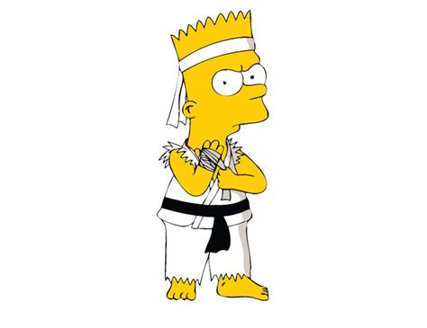 pin by daime on pinterest bart who s up for some karate with bart simpson bart stuff
