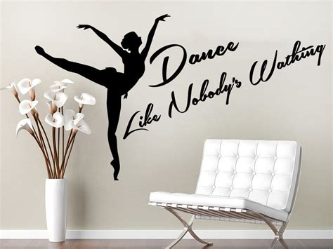 dancer wall stickers aliexpress buy wall decal sport quote studio