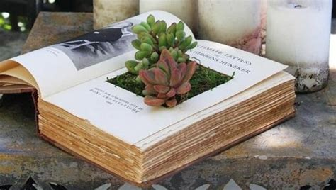 How To Make A Book Planter by 10 Creative And Unique Diy Planters To Inspire Your Home