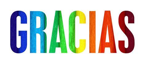 palabras de gracias con imagenes letras gracias de colores imagenes y carteles