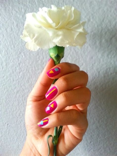 colorful contact paper colorful diy geometric nail with contact paper
