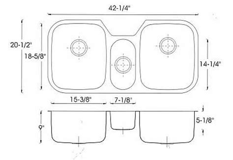 kitchen sink standard sizes kitchen design photos