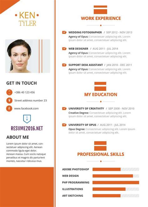 Presentation Cv 2016 by 20 Awesome Resume Templates 2016 Get Employed Today