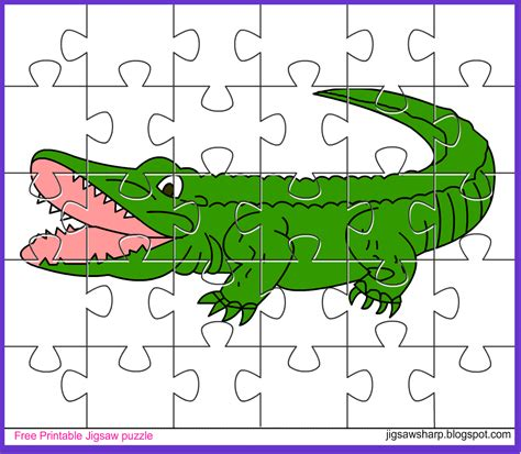 printable photo jigsaw puzzles free printable jigsaw puzzle game alligator jigsaw puzzle