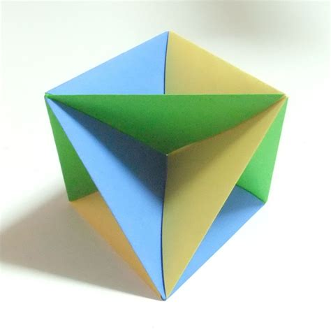 Modular Origami Octahedron - modular polyhedra from waterbomb base units abstract