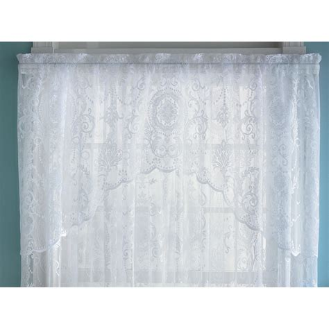 kmart lace curtains essential home coraline lace window valance curtain free
