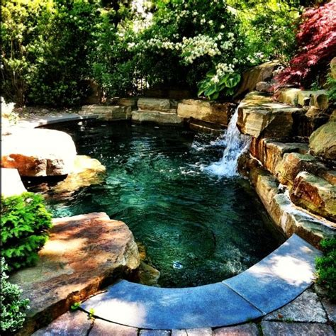 how to build a waterfall into a pool 17 best ideas about natural backyard pools on pinterest