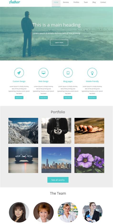 templates for website in html5 and css3 30 free html5 css3 responsive templates
