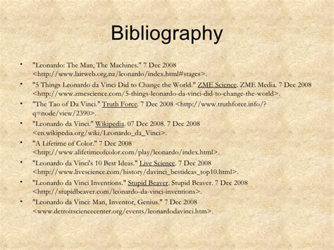leonardo da vinci biography citation leonardo da vinci science