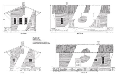 railroad house plans small freight house drawings in n ho s and o scales