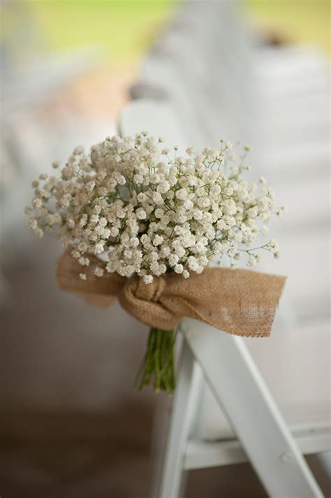 Baby S Breath Wedding Aisle by Baby S Breath And Burlap Wedding Ceremony Decor Http Www