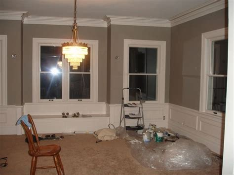 sherwin williams pavestone paint color  dining room