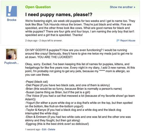 best yahoo answers questions don t read yahoo answers for the answers read it for this