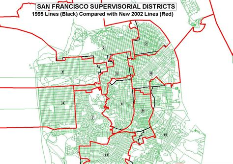 san francisco map by district district map san francisco michigan map