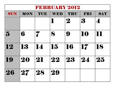 February 2012 Calendar Skillin S Garden Log February 2012