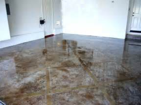 acid stained etched design epoxy garage floor bu ku