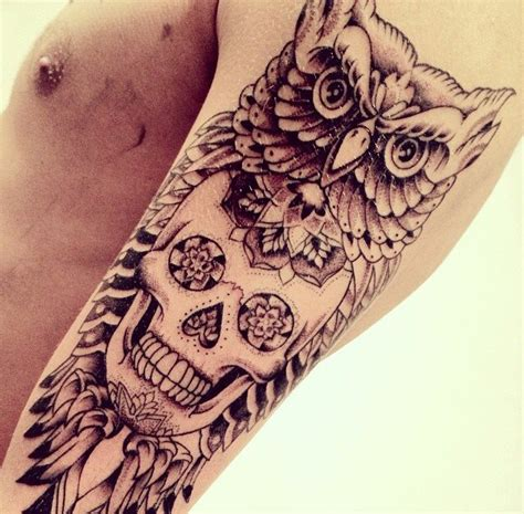 tattoo old school hibou signification tatouage crane mexicain 35 photos de t 234 te de mort sublimes