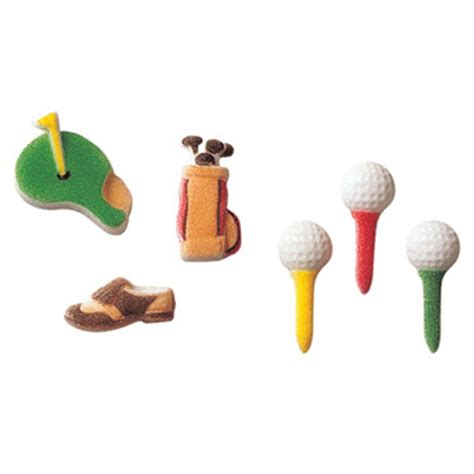 lucks decorating lucks golf assortment sugar decorations