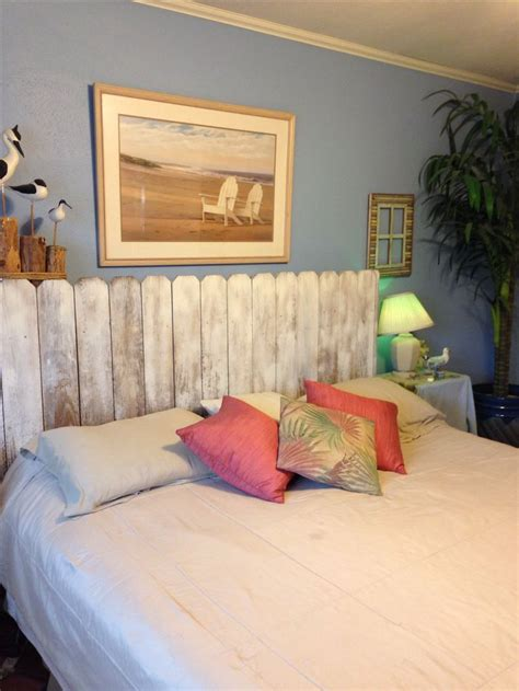 nautical headboards diy headboard made out of whitewashed fence boards p