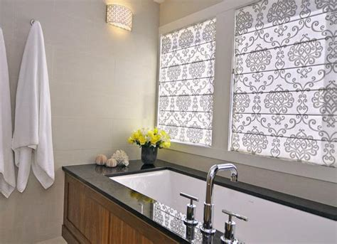 bathroom blind ideas roman shades for modern kitchens and bathroom decorating
