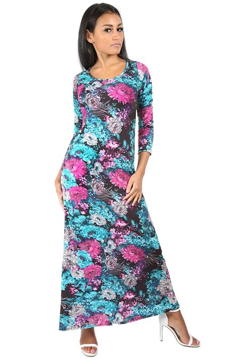 ladies swing dresses womens evening maxi dress ladies swing dress 3 4 sleeve