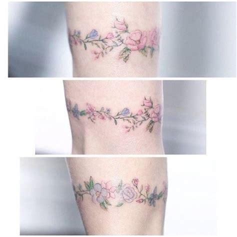 tattoo flower mini floral bracelet tattoo by mini lau minilau lavender