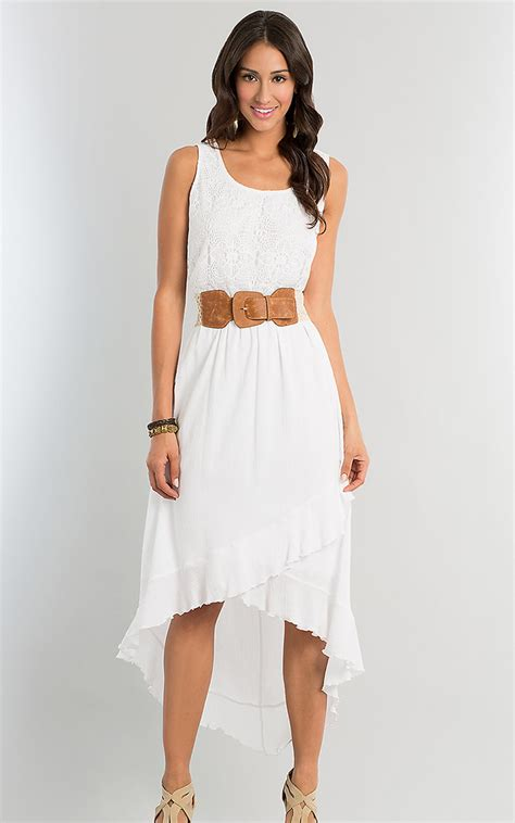 Dress White The white high low dress dressed up