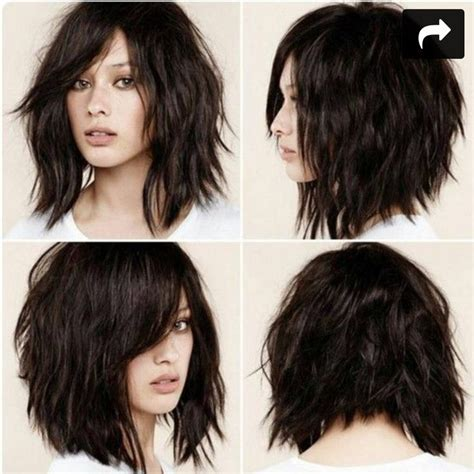 lob cut with bangs layered lob haircut with bangs www pixshark com images