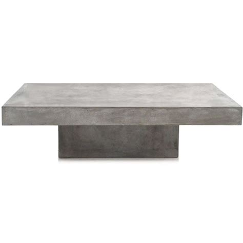 concrete slab indoor outdoor coffee table rectangle