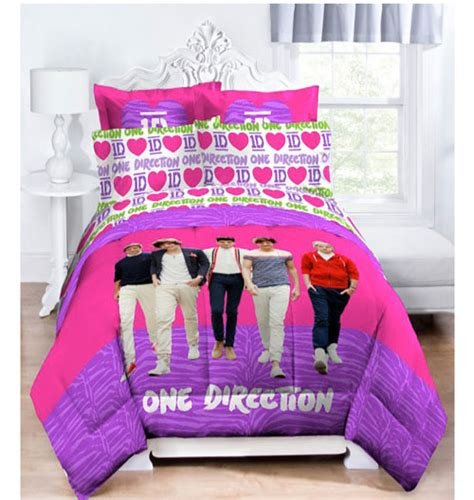 one direction bedding 3pc one direction love 1d twin bed sheet set pink hearts
