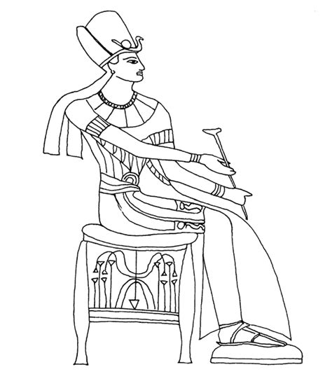 Free Coloring Pages Of Egypt Tomb Pharaoh Coloring Pages