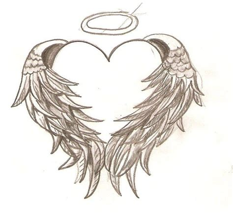 tattoo gallery angel wings heart amp angel wings without halo ink pinterest
