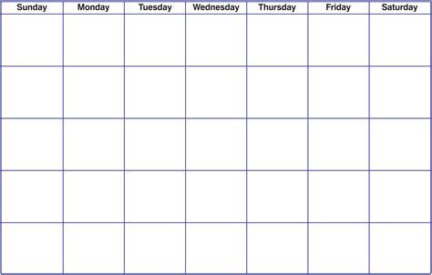 free blank calendar template printable blank calendar template pdf