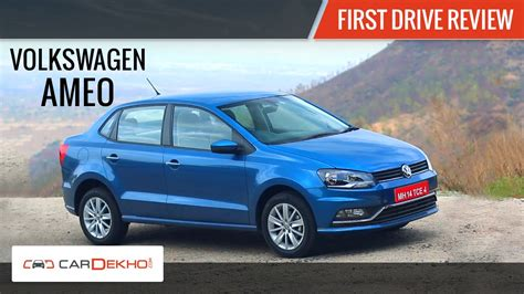 volkswagen ameo volkswagen ameo first drive review youtube