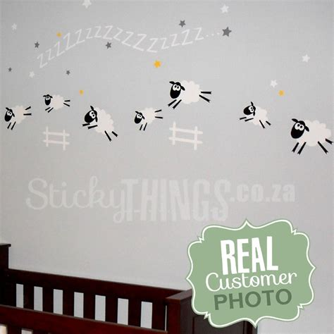 sheep wall stickers nursery farm theme sticky things wall stickers south