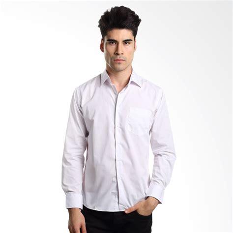 Kemeja Basic White vm kemeja pria polos slimfit basic panjang putih white shirt daftar harga terbaru indonesia