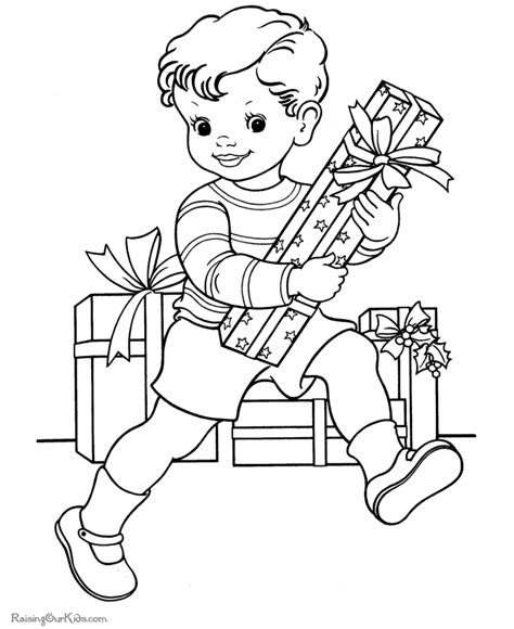 boy christmas coloring page kid s christmas coloring pages it s fun to give