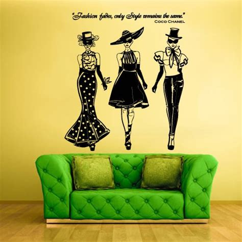 coco chanel wall stickers coco chanel wall quotes funk n at the same time funk this house