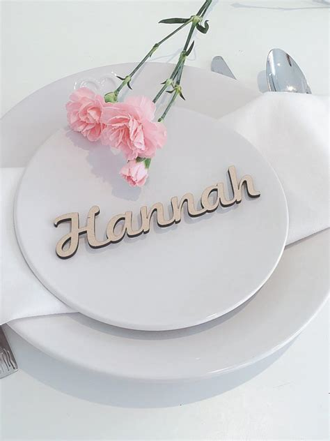 wedding names wooden wedding place name wooden wedding place setting