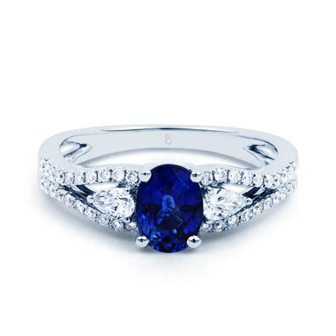 luxe sapphire engagement ring sapphire engagement rings - Sapphire And Engagement Rings