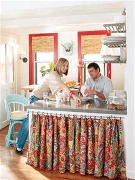 Diy Cabinetry With Curtains