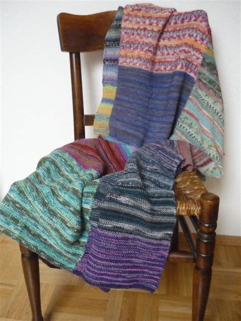 patchwork decke decke stricken patchwork aus sockenwolle reste